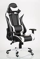 Кресло ExtremeRace black/white, черное с белым, компьютерное, геймерское