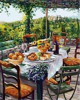 Картина по номерам Турбо Завтрак с сыром и вином (VP670) худ. Сьюзан Риос 40 х 50 см