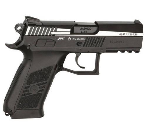 Пневматический пистолет ASG CZ 75 P-07 Blowback Nikel, фото 2