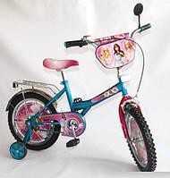 Детский велосипед 16'' BT-CB-0021 Барби голубой с розовым