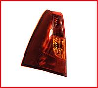 Стекло фонаря / стопа заднего левое красно-желтое QSP Dacia / Renault Logan фаза 1
