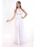 Свадебное платье из шифона с гипюром G2101 (р.42-48)