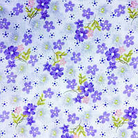 Ткань легкий коттон принт (Полевой цветок), фото 1