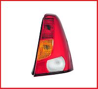 Стекло фонаря / стопа заднего правое красно-желтое QSP Dacia / Renault Logan фаза 1