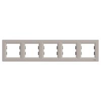 Рамка 5-ти местная горизонтальная бронза Sсhneider Eleсtriс Asfora Шнайдер электрик Асфора