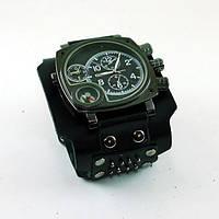 Наручные часы с качественным кожаным ремешком «Эверест»