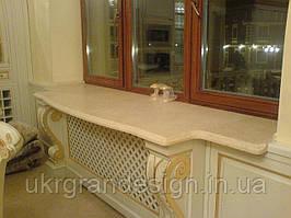 Мраморный подоконник на кухню
