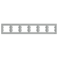 Рамка 6-ти местная горизонтальная алюминий Sсhneider Eleсtriс Asfora