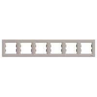 Рамка 6-ти місцева горизонтальна бронза Sсhneider Eleсtriс Asfora