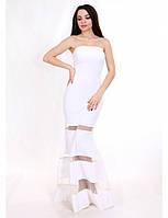 Свадебное платье-годе с сеткой G2075 (р.40-44)