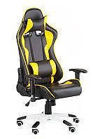 Кресло ExtremeRace black/yellow, черное с желтым, компьютерное, геймерское