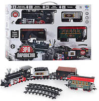 Игрушечная железная дорога 701830 R/YY 126 «Эра паровозов», 420 см, световые и звуковые эффекты