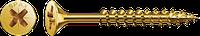 Саморізи Spax, Шліц Pz, неповна різьба, оцинкований, жовта пасивація
