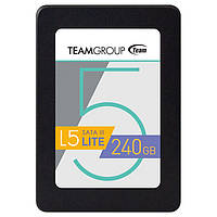 """SSD диск 240 Гб/Gb Team L5 Lite, SATA 3, 2.5"""", MLC, 530/300 MB/s (T2535T240G0C101), ссд накопитель"""