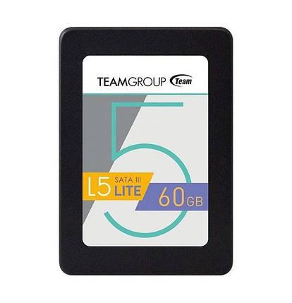 """SSD диск 60 Гб/Gb Team L5 Lite, SATA 3, 2.5"""", MLC, 500/300 MB/s (T2535T060G0C101), ссд накопитель, фото 2"""
