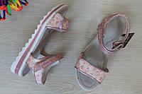 Розовые босоножки для девочки с сердечками тм Том.м р. 36,37
