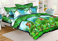 Детское постельное бельё Хороший динозавр 150*220 хлопок (6435) TM KRISPOL Украина