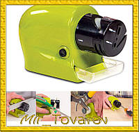 Точилка для ножей и ножниц на батарейках Swifty Sharp Motorized Knife Sharpener (ножеточка Свифти Шарп)