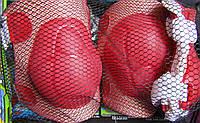 Защита, комплект красный -  наколенники, налокотники, накладки на кисть