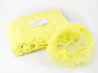 Шапочка одноразовая, «Гармошка» 100 шт, желтый