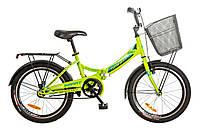 "Велосипед 20"" Formula SMART 14G рама-13"" St лайм с багажником зад St, с крылом St, с фонарём 2017"