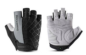 Перчатки RockBros Spyder, черно-серые, L
