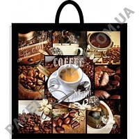 """Пакет с петлевой ручкой тип """"Клубника"""" Кофе (42х45) 25 шт"""