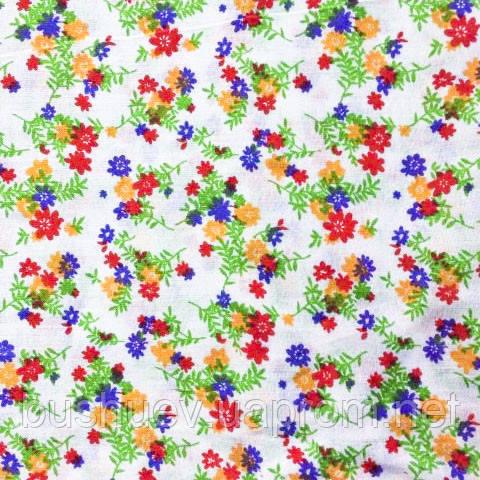 Ткань легкий коттон принт (Мелкий цветочек)