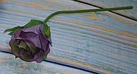 Цветок бутона розы премиум сиреневый с зеленцой