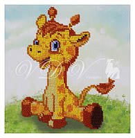 """Схема для часткової вишивки бісером """"Жирафчик"""""""