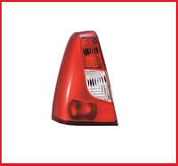 Стекло фонаря / стопа заднего левое красно-белое QSP Dacia / Renault Logan фаза 1