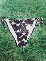 Женские купальные трусики черного цвета