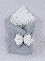 """Конверт-одеяло """"Маленькие стиляжки"""" серый (деми/зима), фото 1"""