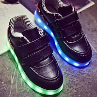 Детские светящиеся кроссовки LEDKED Kids Casual Black