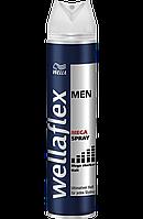 Лак Блеск и Сила волос Wellaflex Men Mega spray  250 мл