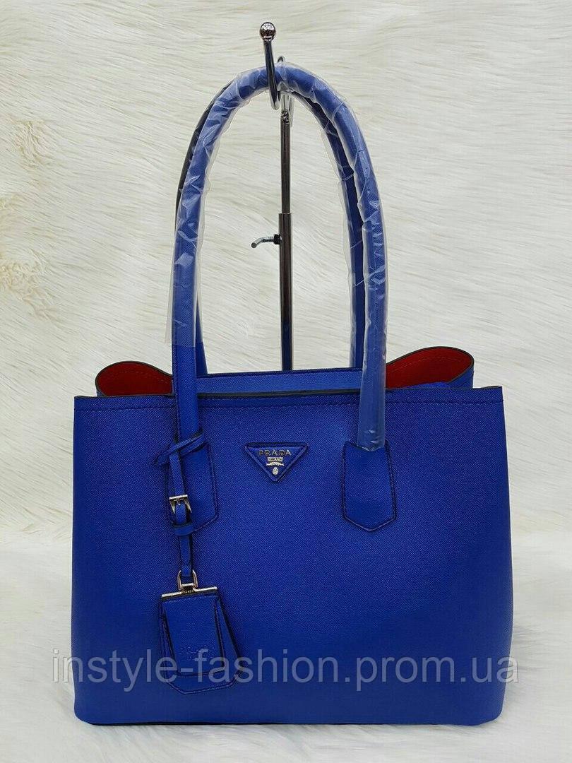 Сумка Prada Прада эко-кожа синяя