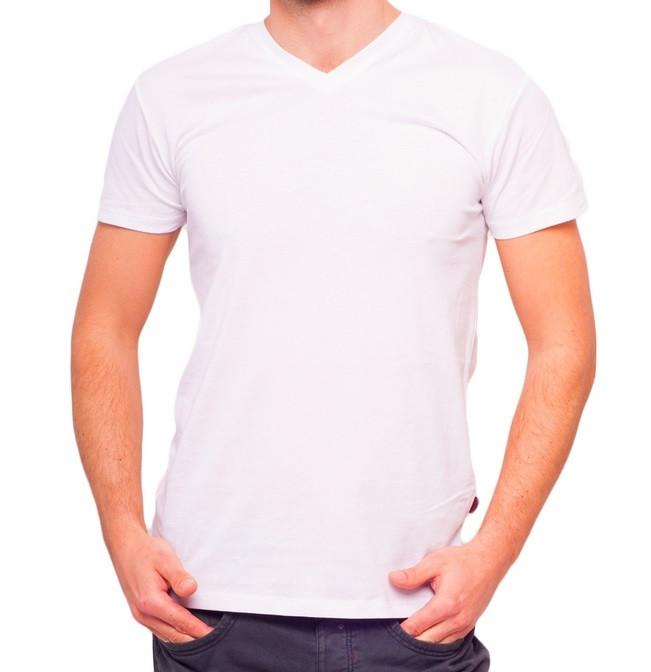Біла футболка чоловіча спортивна річна без малюнка трикотажна бавовна Україна