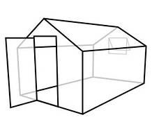 Теплицы ДВУСКАТНЫЕ (mini) с сотовым поликарбонатом Soton-стандарт 6мм,  2,1*2,5*2,25м. Алюминиевый профиль.