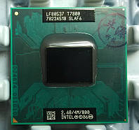 Процессор Intel Core2 Duo t7800 2.6GHz\4M\800 Socket P. Гарантия +паста