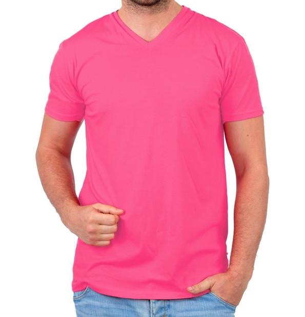 Футболка чоловіча спортивна річна рожева без малюнка трикотажна бавовна Україна