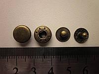 Кнопка альфа 10 мм антик