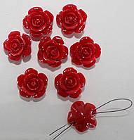 Коралл синтетический. Красный  (цветочки 14 мм), фото 1
