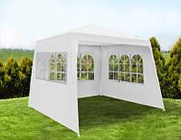 Садовый павильон шатер 3х3 с 3 стенками+окна
