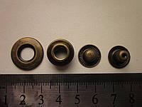 Кнопка альфа с отверстием 20 мм антик