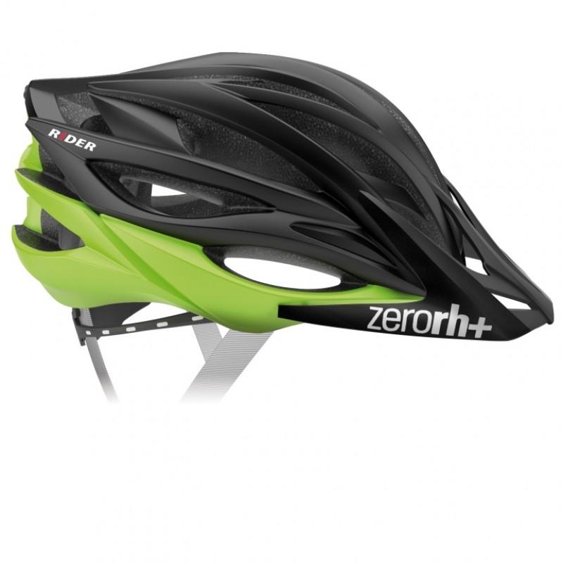 Велошлем ZeroRH+ Rider matt Black-Matt Acid green (MD)