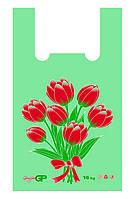 Пакеты майка 38*58 Тюльпаны, GoodPack