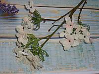 Ветка цветков флокса премиум класса бело-розовый
