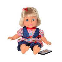 Интерактивная кукла Кристина M 1447 U/R, 760 фраз, песенки/сказки, три языковых режима, пульт ДУ, 36 см