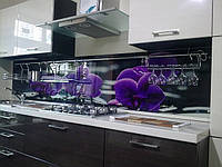 Кухонный фартук из стекла купить киев