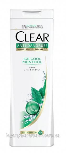 Женский шампунь против перхоти CLEAR Ice Cool Menthol, 400 мл